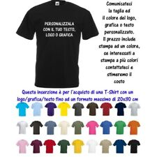 T-Shirt Maglia Personalizzata 20x30 Uomo Valueweight Cotone Fruit of the Loom M9