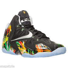 New Men's NIKE Lebron XI 11 - 616175 006 Everglades Basketball Sneaker