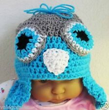 Valego Sales Handmade Crochet Baby Infant Toddler Child ~ OWL HAT #017 Sale