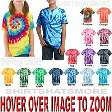 Youth Tie Dye T-Shirt Spiral XS,S,M,L,XL Boys Girls Kids Tye Died NEW!