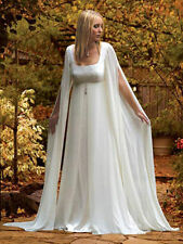 Stylish Hot Mediaeval Long sleeves Chiffon Bridal Wedding Dress Gown Custom Size