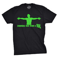 Zombies Just Want a Hug T Shirt Funny Undead Horror Bloody Gore Tee
