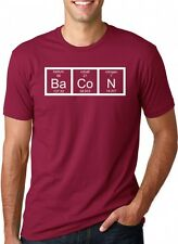 Men's Chemistry Bacon T Shirt- Funny Periodic Table Tee For Guys