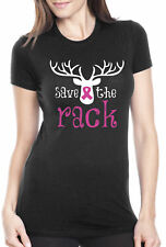 Women's Save The Rack T Shirt Cool Breast Cancer Awareness Month Tee