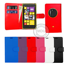Leather Wallet Book Flip Case Cover For Microsoft / Nokia Lumia Mobile Phones