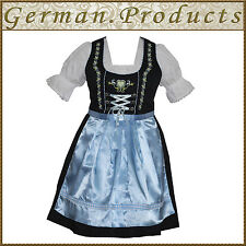 German Bavarian Oktoberfest Trachten 3 Pc Blue Dirndl Dress, Available All Size