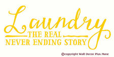 Laundry the Real Never Ending Story Wall Decal Laundry Room Quote New 28x11.5 in