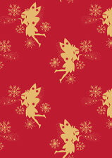 LEWIS AND IRENE 'MAKE A CHRISTMAS WISH' FAIRIES 100% COTTON FABRIC