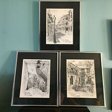 Set of 3 Vintage Don Davey New Orleans Offset Lithograph Prints