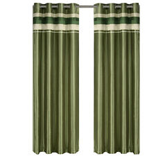 Milan Sage Grommet Blackout Multilayer Lined Window Curtain Panel