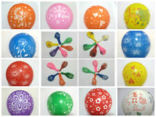 """12"""" Latex PRINTED Pearlised Quality 100* BALOONS Party Birthday Wedding Balloons"""