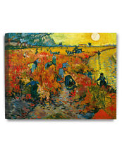 DecorArts The Red Vineyards by Vincent Van Gogh Giclee Print Stretched Canvas