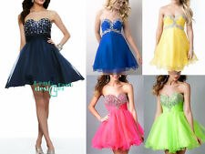 New Short Mini Formal Bridesmaid Dress Party Cocktail Evening Gown Prom Dresses