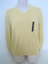 BANANA REPUBLIC Men's Yellow V-Neck Sweater Size S,M NWT