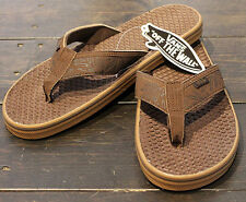 VANS La Costa  Mens Sandals (NEW w/ FREE SHIPPING) Flip Flops ALOHA Thongs BROWN