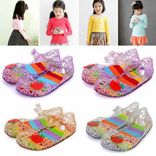Cute Princess Jelly Shoes Toddler Girl Summer Soft Sole Flat Apple Sandals
