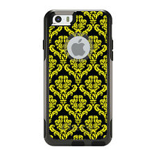 OtterBox Commuter for iPhone 5S SE 6 6S 7 Plus Black Yellow Damask Pattern