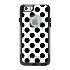 OtterBox Commuter for iPhone 5S SE 6 6S 7 Plus Black & White Polka Dots
