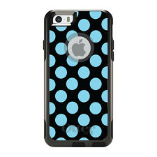 OtterBox Commuter for iPhone 5S SE 6 6S 7 Plus Black Blue Polka Dots