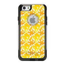 OtterBox Commuter for iPhone 5 5S SE 6 6S Plus Orange Yellow White Flames Fire