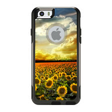 OtterBox Commuter for iPhone 5S SE 6 6S 7 Plus Green Blue Yellow Sunflowers