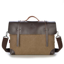 Men's Canvas Leather Briefcases Messenger Shoulder Bags handbag Cross body Tote
