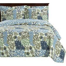 Elena Luxury Oversize Coverlet, Reversible Quilt Includes One Bedspred & 2-Shams