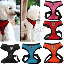 Dog Pet Mesh Padded Vest Soft Harness Adjustable small medium large XS S M L XL