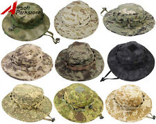 Tactical Camo Boonie Hat Military Airsoft Hunting Fishing Outdoor Ripstop Cap