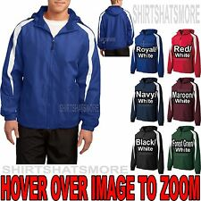 Mens Hooded Jacket with FLEECE LINING Front Zip Pockets XS-XL 2X 3X 4X 5X 6X NEW
