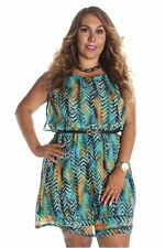 121AVENUE Alluring Printed Multi Color Dress 1X 2X 3X Women Plus Size