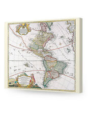 Ancient Map Repro. wall art. Giclee print decoration. Canvas Museum Wrapped