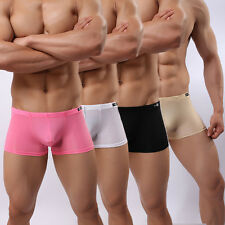 New Mens Sexy Soft Underwear Breathable Boxers Briefs Scally Gay Int Shorts M-XL