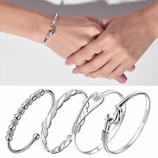 New Fashion Jewelry Women 925 Sterling Silver Beads Lucky Bracelet Bangle