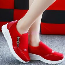 Womens Girls Zip Pull on Sneakers Trainer Boot SHoes Casual Running Athletic New
