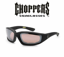 3 PAIR COMBO Choppers Foam Padded Sunglasses Motorcycle Riding Glasses Unisex