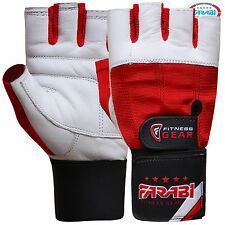 Farabi Weight Lifting Gloves Gym Training Fitness Gloves Leather Wrist Support