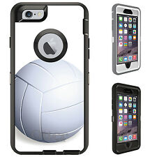 CUSTOM OtterBox Defender for iPhone 6 6S PLUS White Volleyball