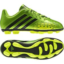 New Boys Adidas Performance Predito Green Football Moulded Studs Soccer Boots