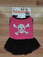 NWT Celebrate It Skull Dog Costume T-Shirt & Skirt Szs. Medium and Large