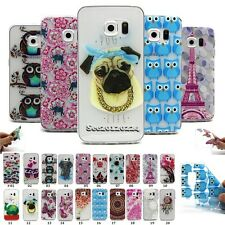 For Samsung Phone Fashion Painted Slim Soft Clear TPU Rubber Gel Case Cover Skin