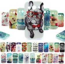 For Samsung Animal Flower Cute Painted Soft Silicone Rubber TPU Skin Case Cover