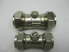 CHROME ISOLATING VALVE COMPRESSION 15mm, 22mm pack of 1, 2, 5
