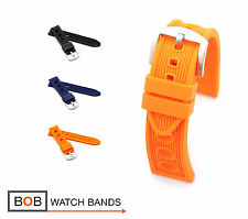 Rubber Racing Style Watch Band for Breitling, 20, 22, 24 mm, 3 colors, new!