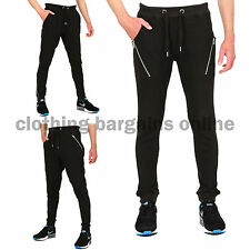 Mens Pique Drop Crotch Fashion Joggers Mens Skinny Slim Fit Tapered Trousers