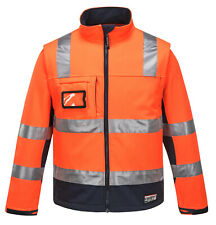 Huski Jackets Safety workwear Jackets Chassis Hi Vis Softshell Jackets(918074)