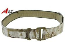 Tactical Military CQB Rigger Rescue Emergency Survival Nylon Duty Belt Desert