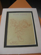 EARLY RARE WALT DISNEY MICKEY MOUSE MODELS WDP DRAWING PRODUCTION ART  no 9