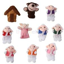 Kids Animal Finger Puppets Plush Cloth Doll Baby Educational Hand Boy/Girl Toys