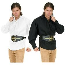 Pirate Shirt Costume Adult Medieval Renaissance LARP Halloween Fancy Dress